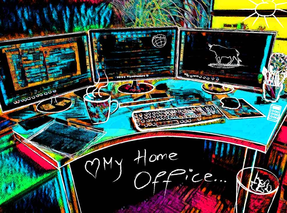 Homeoffice - Webdesignerin Ursula ZAuner aus Salzburg erstellt Webseiten und Grafiken im Homeoffice